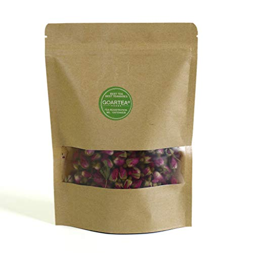 (GOARTEA 100g (3.5 Oz) Organic Red Rosebud Rose Buds Flower Floral Dried Herbal Health Chinese Tea)