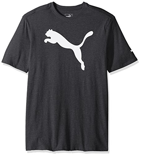 PUMA Men's Big Cat Graphic T-Shirt, Black Heather White, - Puma T-shirt Graphic