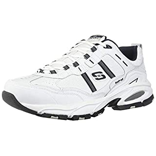 Skechers Sport Men's Vigor 2.0 Serpentine Memory Foam Sneaker,White/Navy,13 M US