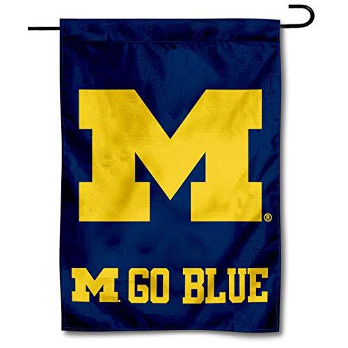 Michigan Wolverines Go Blue Garden Flag and Yard Banner