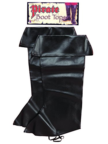 (Forum Novelties Pirate Boot Covers for Adults - Black )