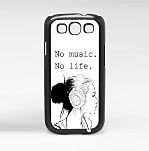 No Music. No Life. Hard Snap on Phone Case (Galaxy s3 III) by icecream design