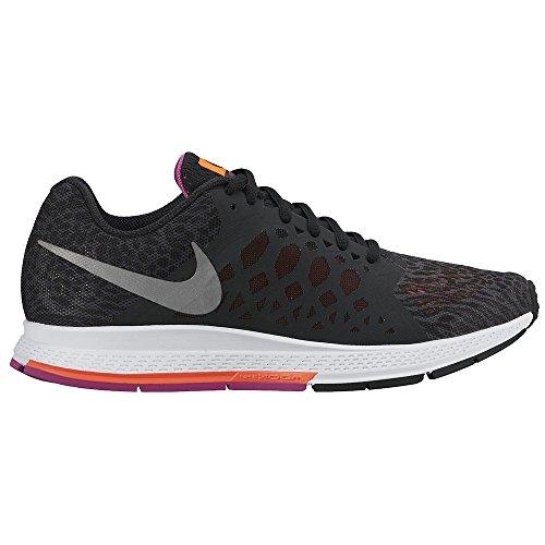 Nike Women's Air Zoom Pegasus 31 Running Sneaker, Black/Fuchsia (8)