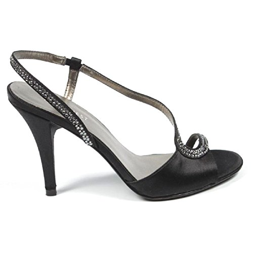 Nine West Womens Talón Abierto Sandalia Nwjaialai Black