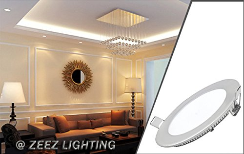 ZEEZ Lighting - 25W 11'' (OD 11.75'' / ID 10.75'') Round Cool White Dimmable LED Recessed Ceiling Panel Down Light Bulb Slim Lamp Fixture - 10 Packs by ZEEZ (Image #6)