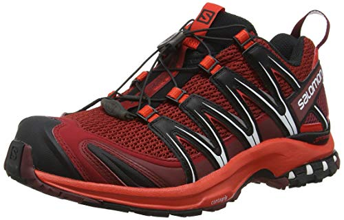 Salomon Men's XA Pro 3D Trail Running Shoe (9 D(M) US, Red Dalhia/Fiery Red/Black)