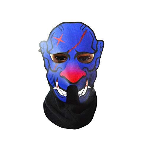 AILIUJUNBING Halloween Full Face Dance Mask Voice LED Control Party Masks Masquerade 3D -
