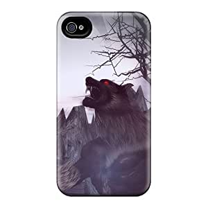 New Baying At The Moon Tpu Case Cover, Anti-scratch LESH Phone Case For Iphone 4/4s
