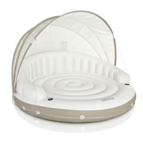 JJ canopy island inflatable lounge with built-in cup - Sunglasses Deere John