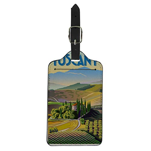 Pinbeam Luggage Tag Green Italian Summer Day in Tuscany Italy the Suitcase Baggage Label