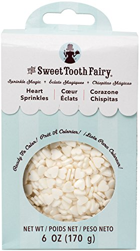 American Crafts Sweet Tooth Fairy Sprinkle Magic Hearts 6 Oz, White