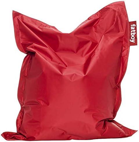 Fatboy® Original Sitzsack Junior   Klassisches Indoor Sitzkissen speziell für Kinder in Rot   130 x 100 cm