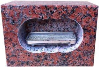 【新商品】お墓のリフォーム! 墓石用角型香炉 B00JYALXQC