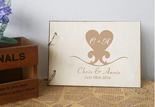 Guest Photo Album Wedding Favors - Yilooom Rustic Love Fingerprint Guestbook Personalized Photo Album Custom Wedding Favors Guest Book,Wedding Decora, Wedding Guestbook