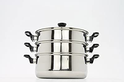 Stainless Steel 3-Tier Steamer pot , Rice cooker, Double Boilder, stack and steam soup pot and steamer