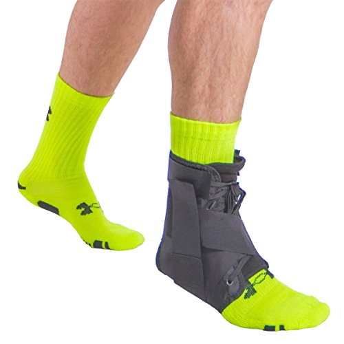 BraceAbility Figure 8 Lace-up Athletic Ankle Brace for So...