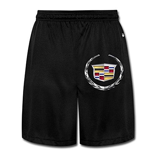 MESTT Men's Cadillac Logo Performance Sports Athletic Shorts Sweatpants ()