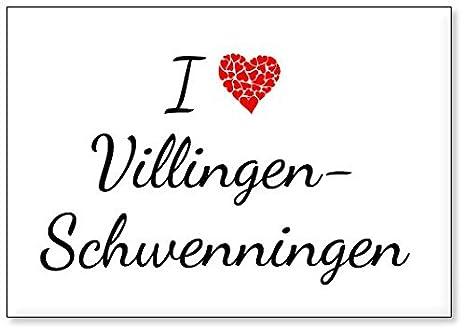 Mundus Souvenirs   Ich Liebe Villingen Schwenningen, Kühlschrankmagnet  (Design 2)