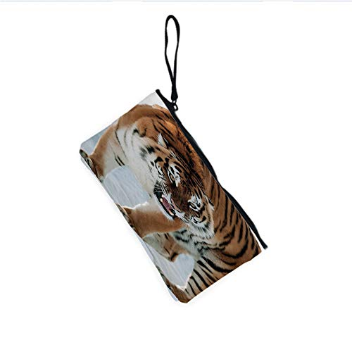 Canvas Coin Purse Zipper Coin Holder Mini Wallet Bags Cosmetic Makeup Bags,Altaica Siberian Giant Feline Russian ()