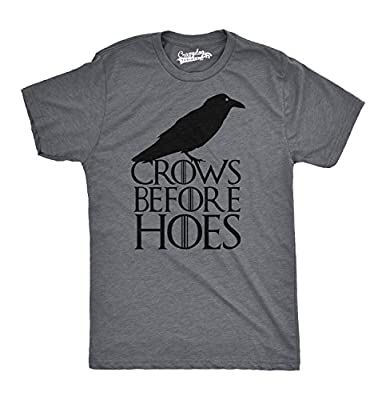 Crows Before Hoes T Shirt Funny Black Crow Brotherhood TV Tee