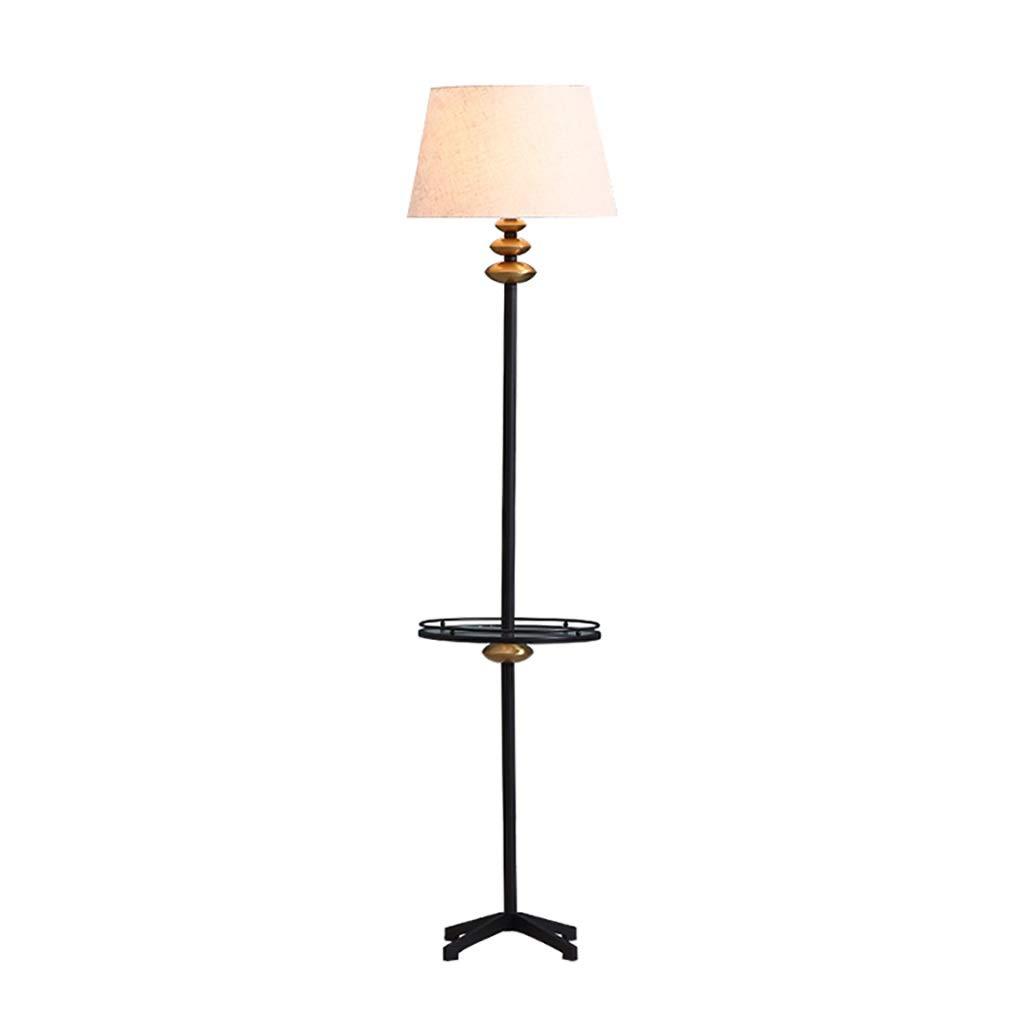 携帯用ランプ 床ランプ - スマートなリモートコントロール、縦の床ランプの居間の寝室が付いている生地のランプシェード B07P7VTDMJ
