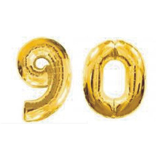 Grabo Giant 90th Gold Number Balloons