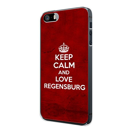 Keep Calm And Love Regensburg iPhone 4 / 4S Hülle Cover Case Schale Deutschland Stadt City Design