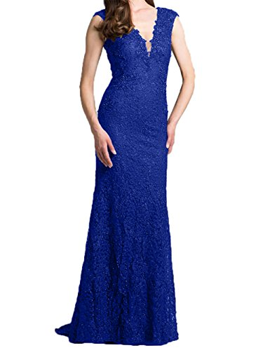 Ballkleider 2018 Dunkel Abendkleider Spitze Lang Damen Neu Partykleider Blau Charmant Royal Brautmutter Promkleider Etuikleider xqUnCZY5w
