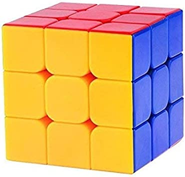 NSinc High Speed Magic Rubik Cube 3X3X3 - High Stability Sticker Less Smooth Swing for Faster Movement