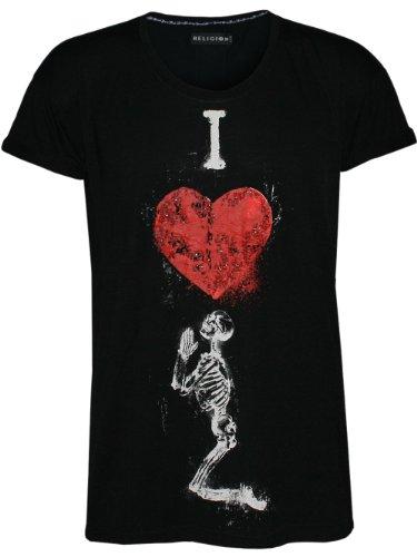 RELIGION Femme Designer Top Shirt - I LOVE RELIGION -
