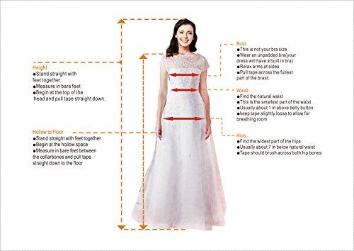 YUXING Damen Abendkleid Frauen A-Linie V-Ausschnitt Ärmel elegant Maxi lange Abend Prom Cocktail Kleid