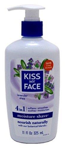Kiss My Face Moisture Shave 11 Ounce Lavender & Shea Pump (325ml) by Kiss My Face