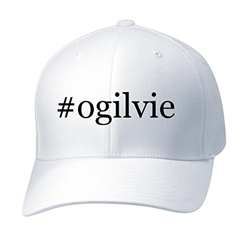 BH Cool Designs #ogilvie - Baseball Hat Cap Adult, White, Large/X-Large