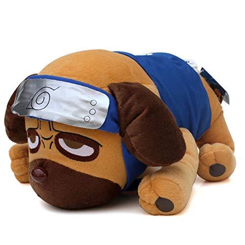 - ForteGlo Naruto - 40cm Japanese Anime Cartoon Naruto Kakashi Pakkun Dog Plush Toys Doll Soft Stuffed Animals Toys for Kids Children 1 PCs