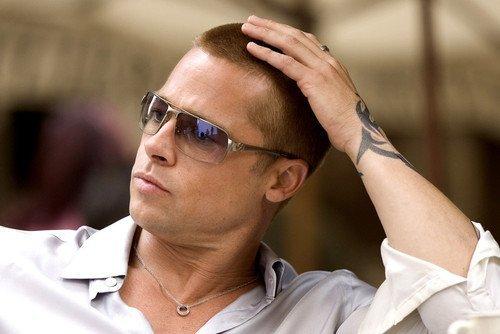 Brad Pitt With Sunglasses Stroking Hair 11x17 Mini - Sunglasses Pitt