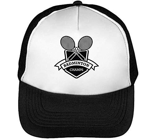 Badge Sport Hombre Blanco Champs Beisbol Badminton Gorras Snapback Negro xw66Adq