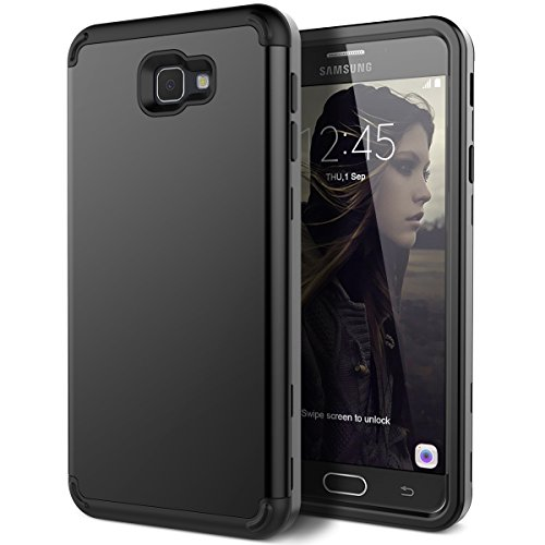 Galaxy J7 Prime G610 Case, Galaxy On7 2016 Case, WeLoveCase 3 in 1 Hybrid Heavy Duty Impact Resistant Armor Defender Protective Case for Samsung Galaxy J7 Prime(2016) / On7 2016 / On NXT - Black