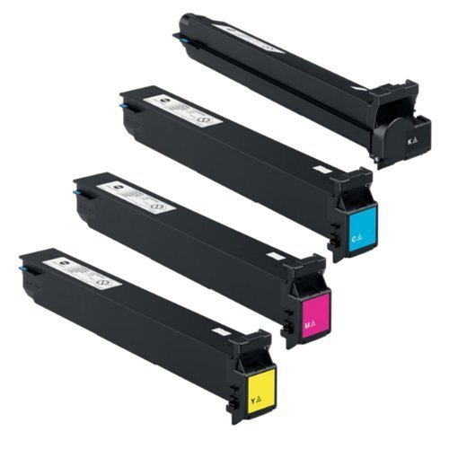 Konica Minolta Part# TN-314C. TN-314K. TN-314M. TN-314Y OEM Toner Cartridge Set ()