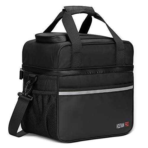 - Veevanpro Insulated Cooler Bag Waterproof Leakproof Cooler Tote 24 Cans 20L Black