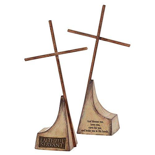 (Dicksons Faithful Servant God Blesses Loves Cares 7 Inch Decorative Tabletop Cross)