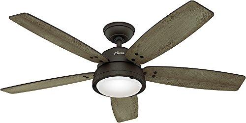 Hunter Channelside 52 in. LED Outdoor Noble Bronze Ceiling F