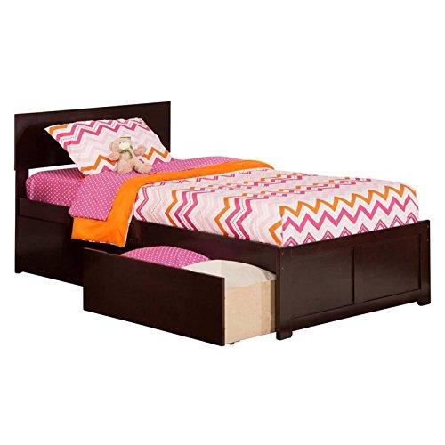 Atlantic Furniture Orlando Twin Platform Bed with Flat Panel