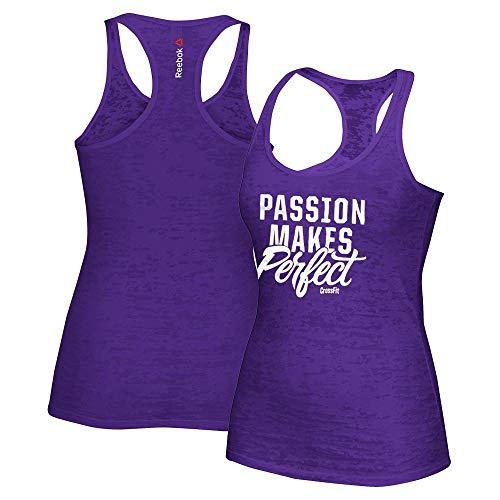 (Reebok Crossfit Passion Makes Perfect Women's Purple Burnout Tank Top)