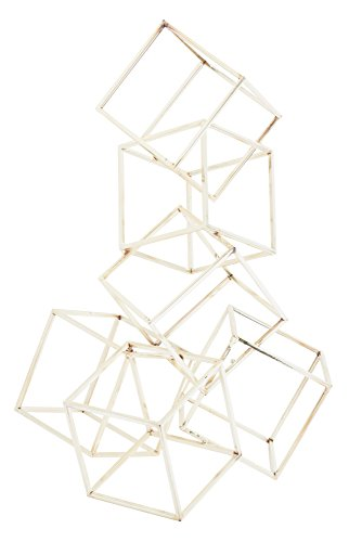 (Benzara Deco 79 Modern Abstract Stacked Metal Cubes Sculpture, 21