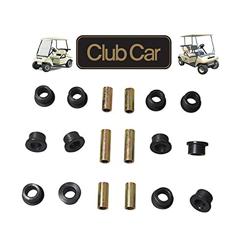 Front Upper A Arm Suspension for Club Car DS Gas/Electric Golf Cart,Bushing and Sleeve Kit 1016346 1016349 1016350 ()