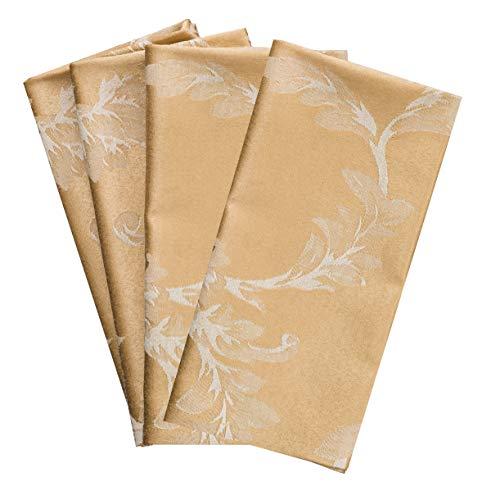 Benson Mills Harmony Scroll Set of 4 Napkins (Gold, 18