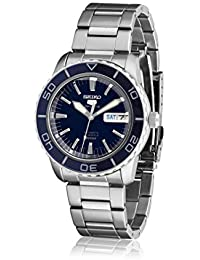 Mens 5 Japanese Automatic Stainless Steel Casual Watch, Color:Silver-Toned (· Seiko