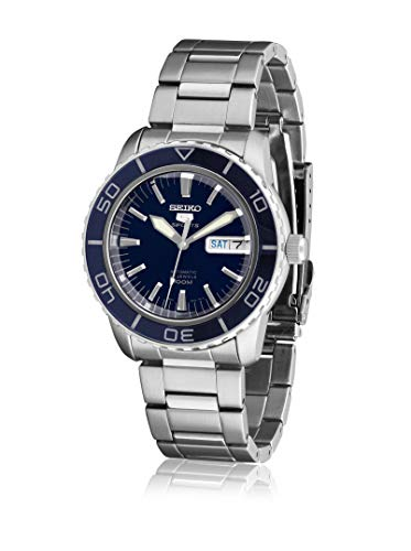 Seiko Men's SNZH53 Seiko 5 Automatic Dark Blue Dial Stainless Steel Watch - Mens Automatic Blue Dial