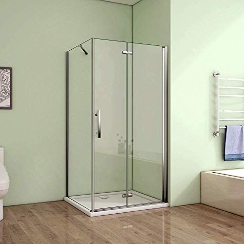 80 x 70 cm mampara de ducha cabina de ducha Puerta plana con ...