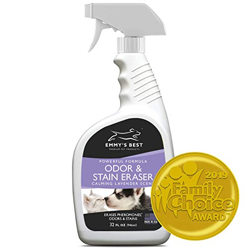 (Emmy's Best Powerful Pet Odor Remover Color Saver and Urine Eliminator Deodorizer Exclusive Enzyme Carpet Cleaner Solution Takes Out Tough Stains, Odors)